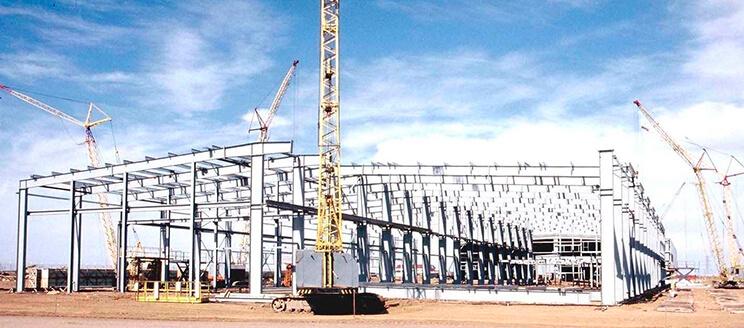 Монтаж конструкций производственного здания