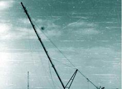 Монтаж конструкций факела Н=110 м методом поворота при помощи А-образного шевра