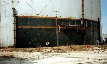 Замена трех ярусов стенки резервуара объемом 20 тыс. м3