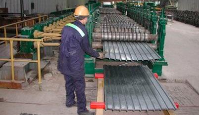 Изготовление профнастила на заводе АЗОК