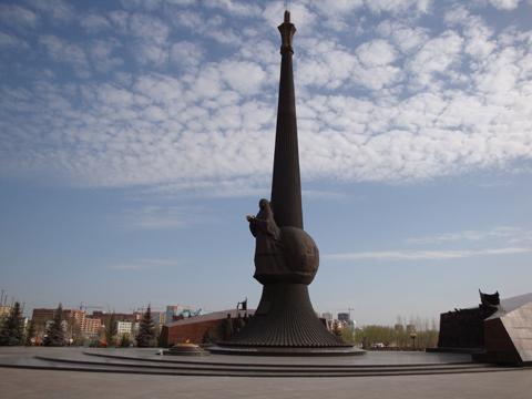 Монумент «Отан коргаушылары» в г. Астана
