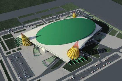 Конькобежный стадион, г. Астана